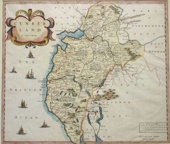 Antique Maps | UK England | Cumberland | Map by Robert Morden (Ref 1000195)