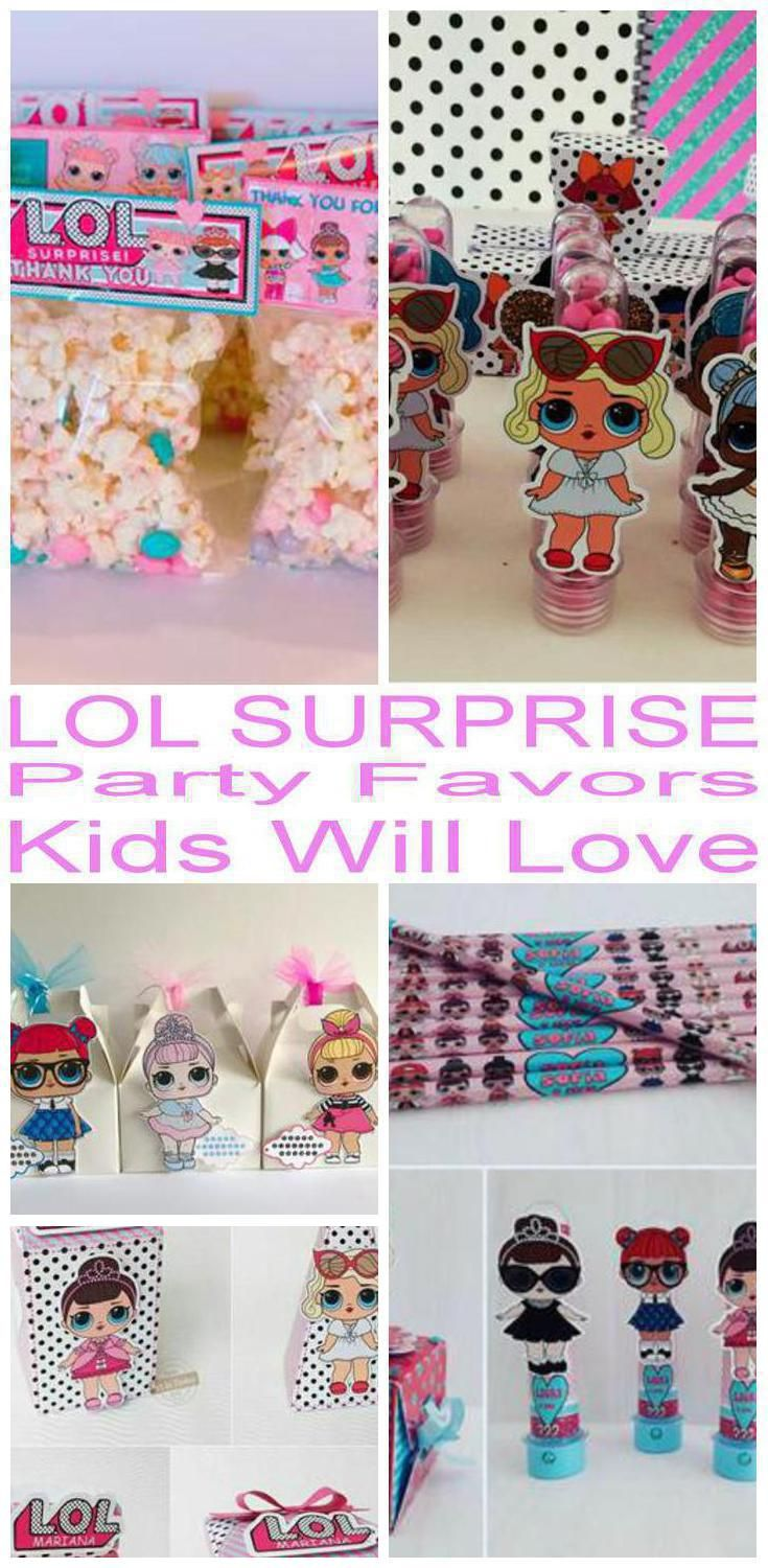 Fun LOL Surprise Party Loot Bags for Birthday Parties