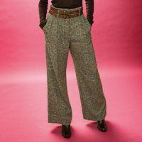 C'est le pantalon de l'hiver : large et droit, à carreaux, très masculin. A faire soi-même !
