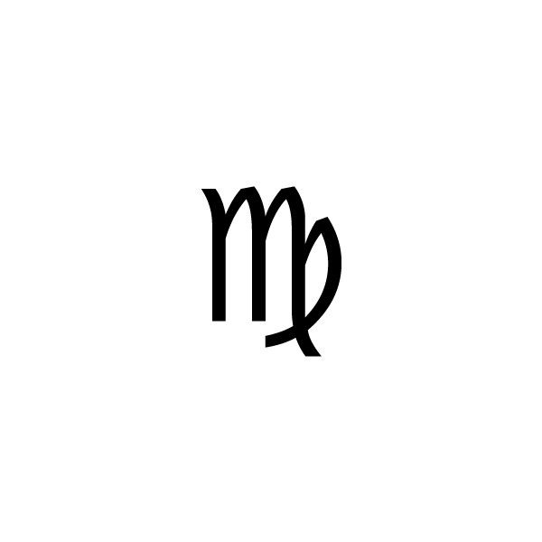 Virgo -- Astrological symbol for the Zodiac sign Virgo ❤ liked on Polyvore
