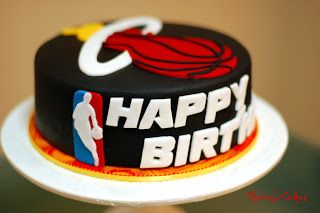 Cherry's Cakes: Miami Heat Inspired Birthday Cake...