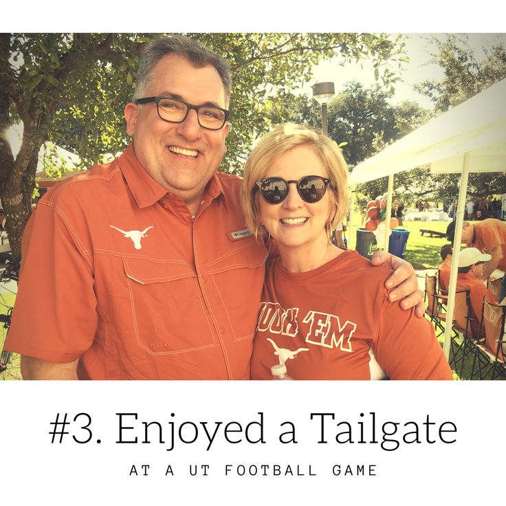 Enjoyed a tailgate at a UT football game. AustinOverFifty.com