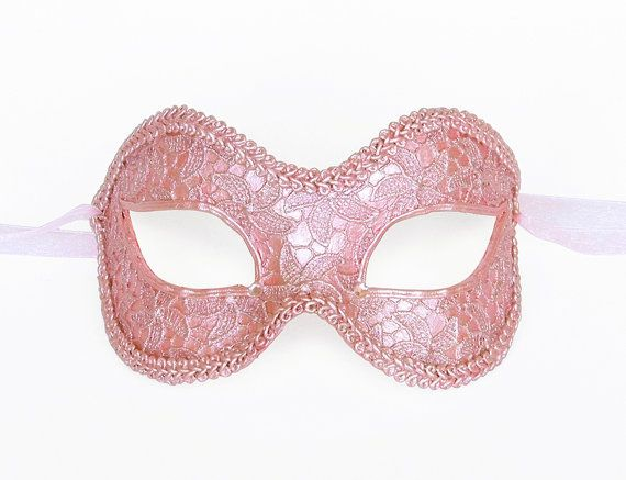 foto de Pink Masquerade Mask Covered With Lace Venetian by