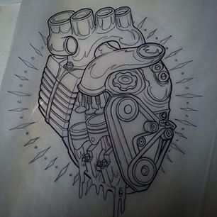 motorbike engine tattoo - Buscar con Google