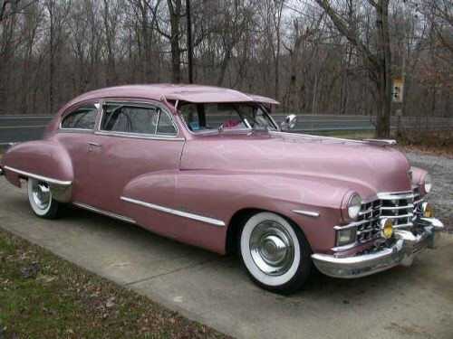 1947 Cadillac Sedanette Fastback pink metallic..Re-pin Brought to you by agents at #HouseofInsurance in #EugeneOregon for #AutoInsurance