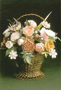 Peter Coke Shellwork Basket of Flowers from The Peter Coke Shell Museum, Norfolk.