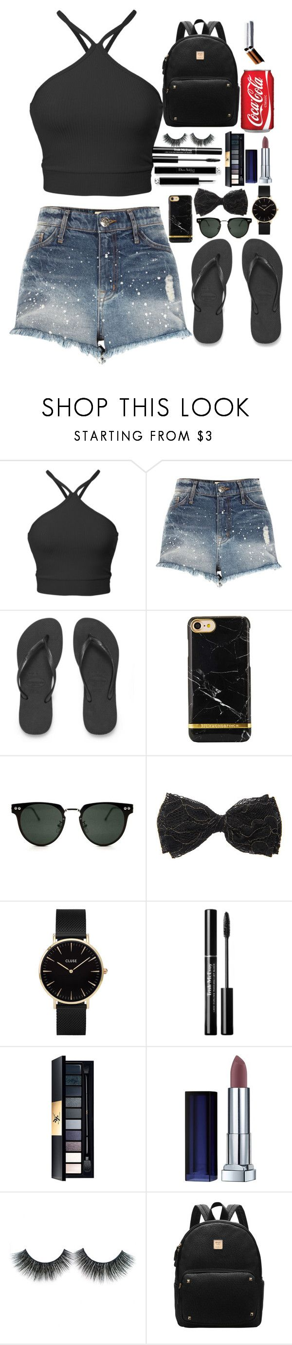 """""""buen día <3 follow me"""" by marii-96-1 ❤ liked on Polyvore featuring River Island, Havaianas, Spitfire, CLUSE and Maybelline"""