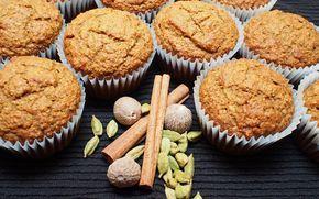 Muffins à la citrouille, au son d'avoine et aux épices #recettesduqc #citrouille