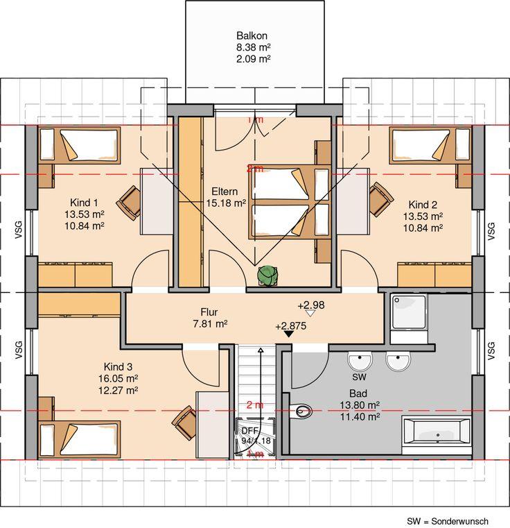 Haus großer plus grundriss großer balkon ideen grundrisse grundriss