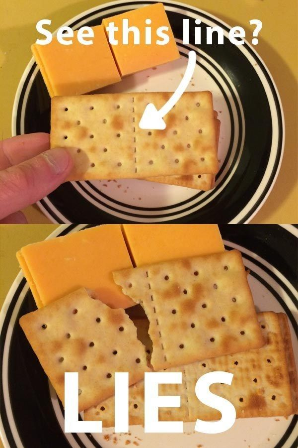 If a perforated cracker doesn't break on the goddamned line, you'll just break through the entire box until you get a perfectly uniform cracker.