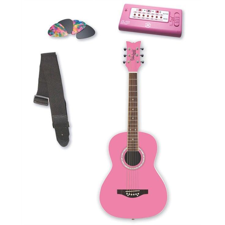 Daisy Rock Daisy Rock 14-7210 Jr. Miss Acoustic Guitar Pack, Bubble Gum Pink (Daisy Rock 304895), Kid's Acoustic Guitars | Yamaha, Fender & Oscar Schmidt | West Music