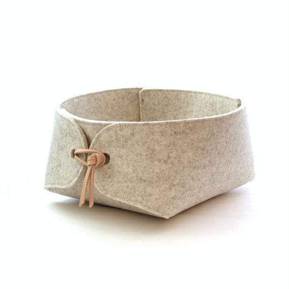 Minimalist Scandinavian design wool felt storage container from Swedish designer Louise Vilmar of Skandinavious.