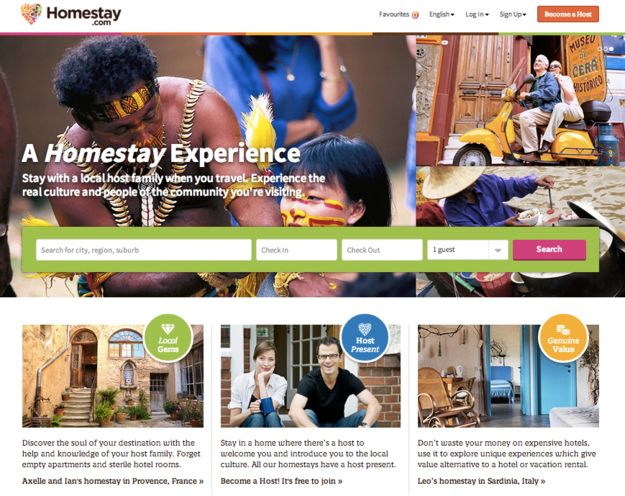 Homestay is a unique and personal accommodation option that focuses on connecting like-minded travellers with local hosts in their home. With locations around the world the Homestay.com community offers a tailor made local experience for travellers, and an equally unique and gratifying experience for hosts. Simply load up the site to browse and find the right places and people to make the most of your trip.