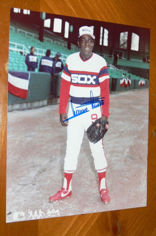 Minnie Minoso Signed Autographed Chicago White Sox 8x10 Photo Sports Mem Cards Fan Shop Autographs Original Base Chicago White Sox White Sock 8x10 Photo