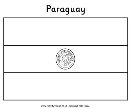 Flag Of Paraguay Modern History Coloring Book Flag