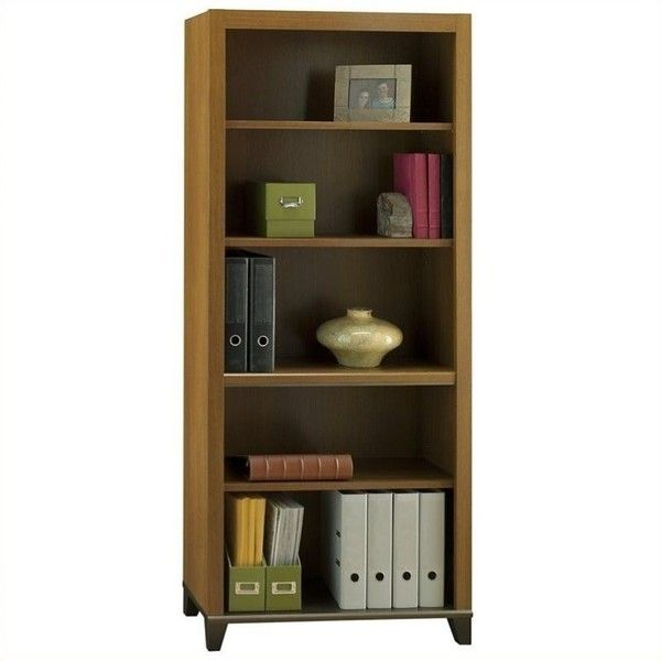 Bush Achieve 5 Shelf Bookcase With Adjustable Shelves ($170) ❤ Liked On  Polyvore