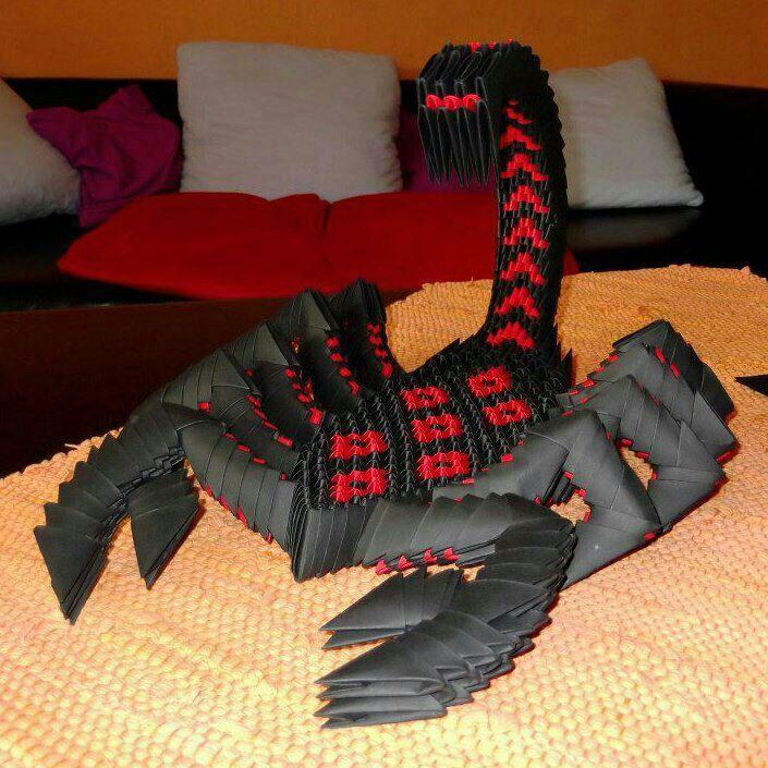 Mein Meisterwerk  Ein 3D-Origamiskorpion Ich liebe ihn