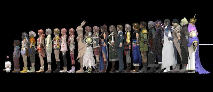 FFXIII Height Chart | Final fantasy | Height chart, Final ...