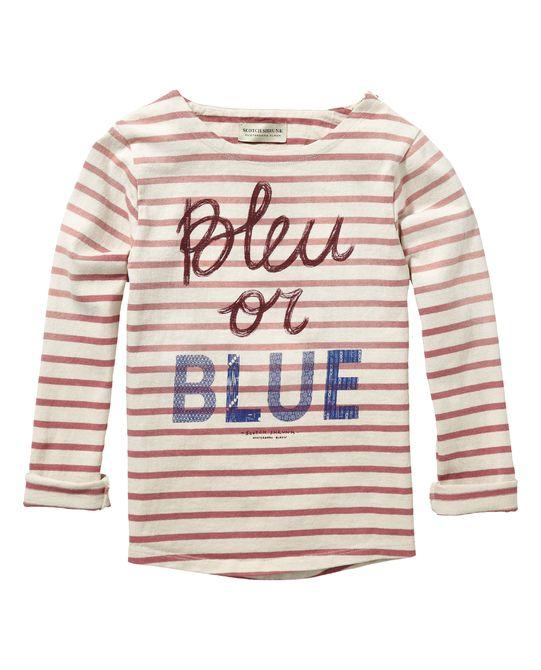 Gestreept T-shirt met lange mouwen | T-shirt l/s | Jongenskleding bij Scotch & Soda