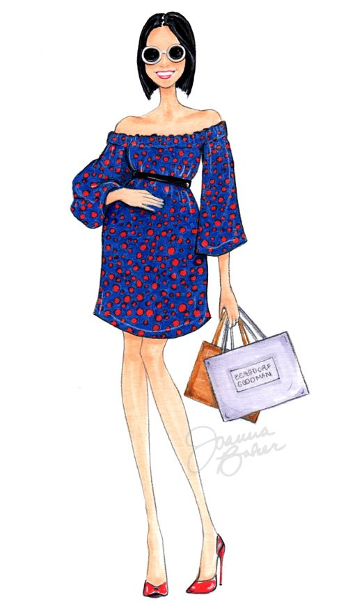 The adorable @evachen212 from @luckymagazine showing off her baby bump at fashion week! Joanna Baker : Fashion Art Design Creative   An illustrated blog of personal artwork, daily musings, and inspirations.