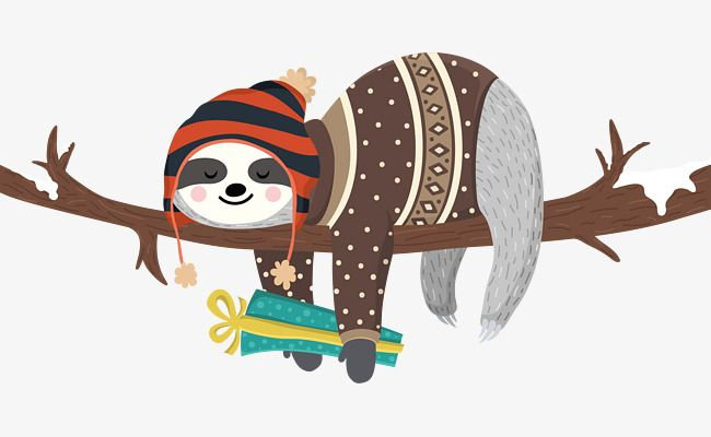 Santa Sloths Card Holiday Christmas By Patternpaperco On Etsy Sloth Card Patterns Cute Baby Sloths