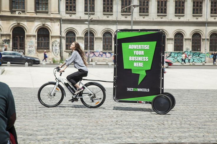 Promobike Kit for women advertisers // Electric Ladies' Bike with AdBicy by BizzOnWheel