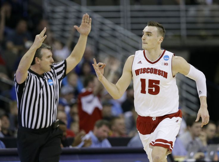 Image result for sam dekker wisconsin NCAA tournament