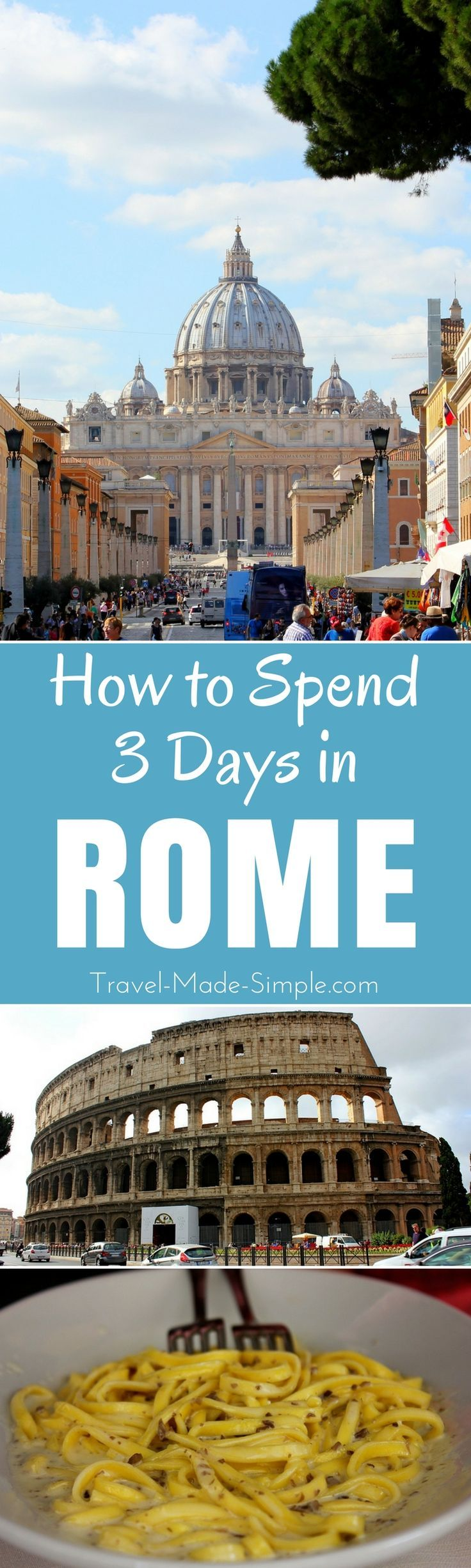 3 days in Rome isn't enough to see everything the city has to offer but it's enough to get a taste of the city. Here is an itinerary of things to do in Rome, Italy. | Rome itinerary | what to do in Rome, Italy | how to spend 3 days in Rome | Rome tourist attractions | travel in Rome, Italy