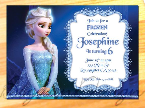 Frozen Birthday Party Frozen Invitation Disney by BogdanDesign, $5.99