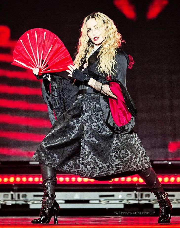 Madonna performing in Zurich on her Rebel Heart tour on 12/12/15