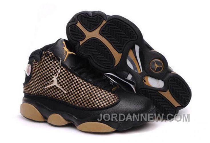 www.jordannew.com... MEN'S NIKE AIR JORDAN 13 SHOES BLACK/BROWN BEST 4NZ5WGB Only $95.35 , Free Shipping!