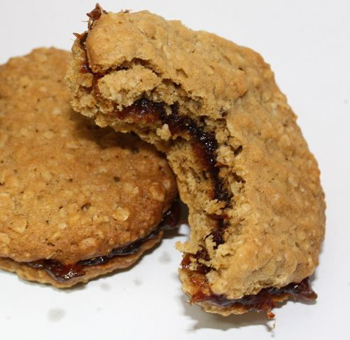 Date filled oatmeal cookies However, I change the look of these cookies to resemble the way Wright's Bake Shop make them. They are THE BEST!!