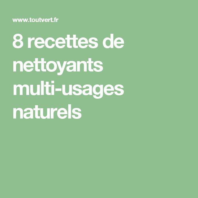 8 recettes de nettoyants multi-usages naturels