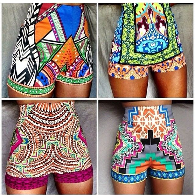 High Waisted Print shorts.  Freakin Love!!