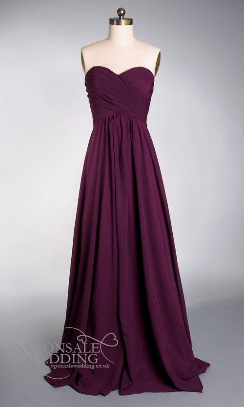 Aubergine strapless full length bridesmaid dress DVW160 | VPonsale Wedding Custom Dresses. leonardofilms.ca