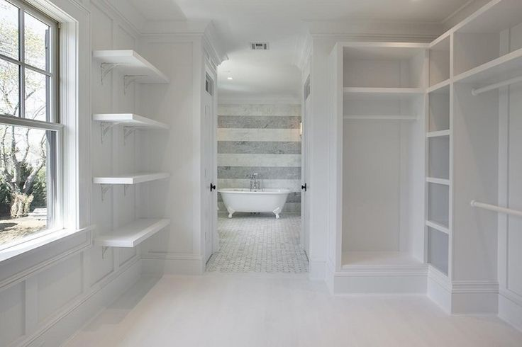 Best 25 walk through closet ideas only on pinterest for Closet bathroom suites
