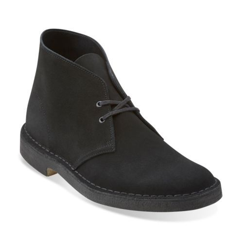 Mens Desert Boot Black Suede - Clarks Originals Mens Desert Boots - Clarks® Shoes