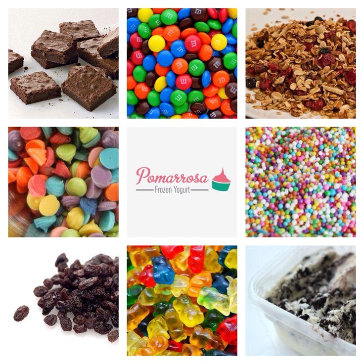 Escoge tus toppings favoritos y arma tu Pomarrosa como más te gusta. ¡Visítanos! #pomarrosafrozenyogurt #elplacerdecomersano #dessert #postre