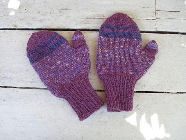 "Ravelry: knitzippy's Pleasant Purple Mittens Pattern is from Ann Budd, ""Basic Mitten Pattern"""