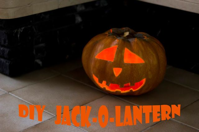 effortless Halloween pumpkin - DIY