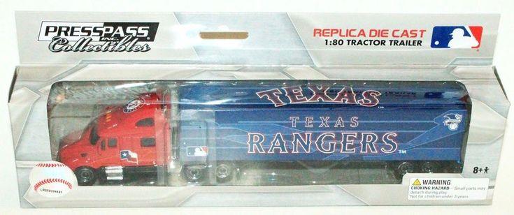 TEXAS RANGERS MLB BASEBALL 1:80 DIECAST SEMI TRUCK TRAILER TOY VEHICLE 2012 NEW #PressPassIncCollectibles #TexasRangers