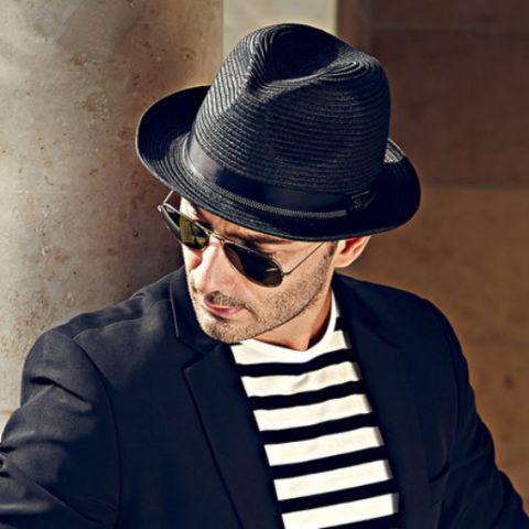 Mens panama straw hat summer wear cool hats