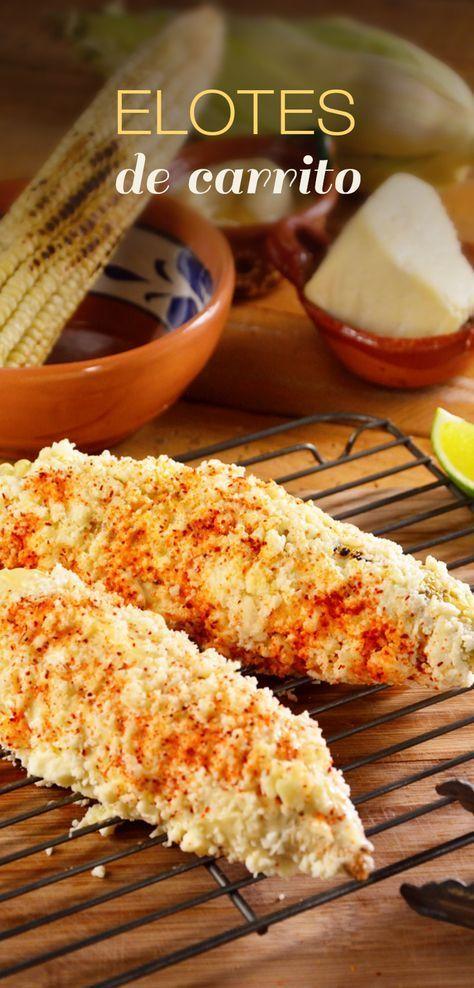 Estos elotes de carrito son muy particulares de México, los encontramos en las ferias, en las plazas, y son deliciosos, con mayonesa y queso, no pierdas la oportunidad de prepararlos en casa.