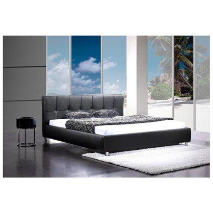 Łóżko Barcelona 140x200 czarne