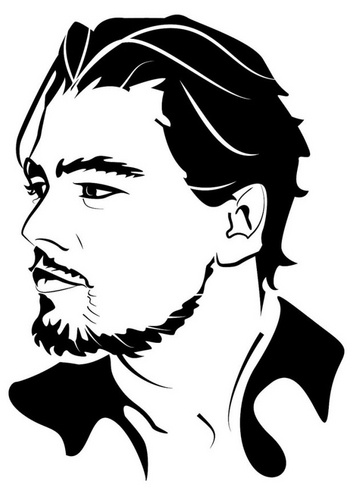coloring page leonardo di caprio - Celebrity Coloring Pages Print