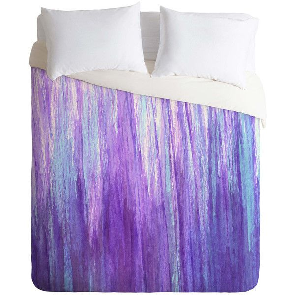Sophia Buddenhagen purple stream Duvet Cover ($145) ❤ liked on Polyvore featuring home, bed & bath, bedding, duvet covers, purple bed linen and purple bedding