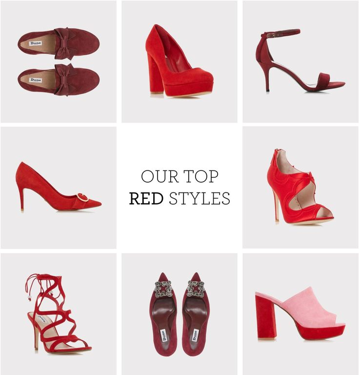 Red is now a fab new colour trend for footwear, but who knew there were quite so many shades of red. Here at Dune London we have a shoe in every shade, so click those ruby slippers and take them home.