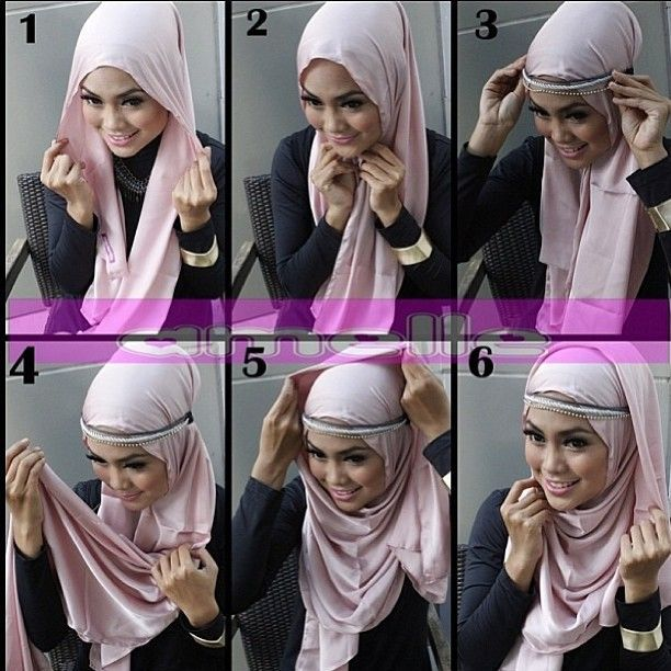 How to wear Hijab with a headband