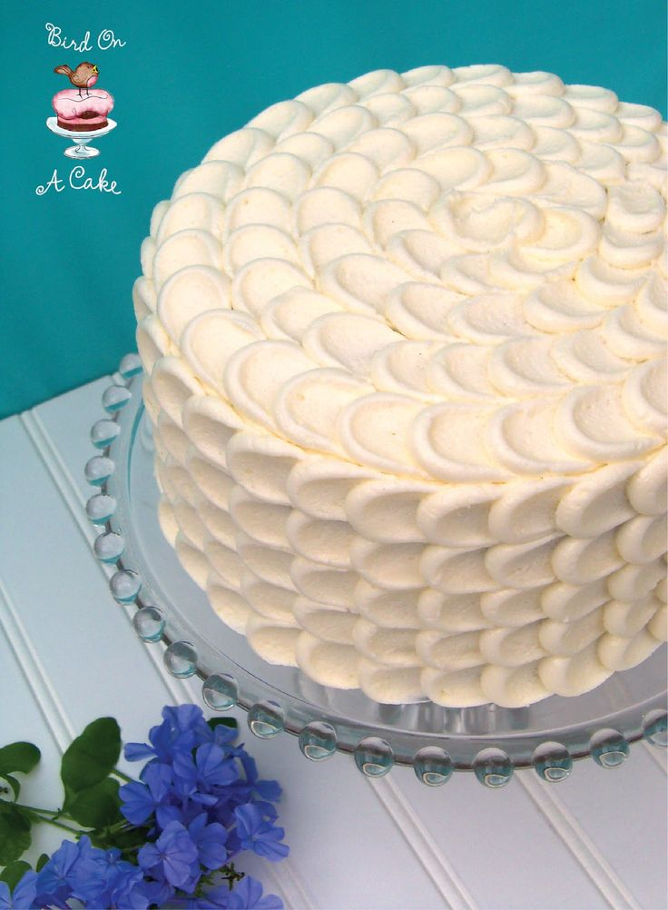 Hummingbird Cake with Petal Frosting Tutorial {Bird On A Cake}
