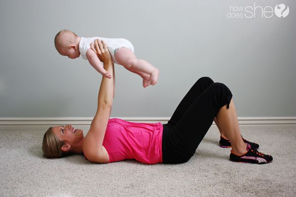 9:00AM Workout Time with Baby: Print out these workouts for the new mom to get moving. Workout With Your Baby! | How Does She